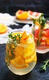 Drink med citruns royaltyfri bild