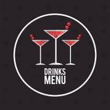 Drink menu alcoholic cocktail manhattan Stock Photography