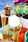Drink menu collection collage beverages drinks cola restaurant b royalty free stock photos
