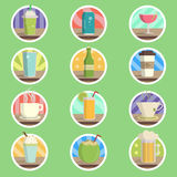 Drink Menu Flat Icon Royalty Free Stock Photography