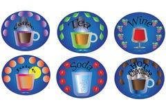 Drink menu-sticker Royalty Free Stock Image