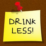 Drink Less Meaning Stop Drinking 3d Illustration. Drink Less Message Meaning Stop Drinking 3d Illustration Stock Image