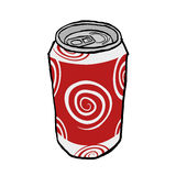 Drink metal can Royalty Free Stock Photo