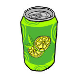 Drink metal can Stock Images