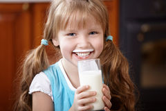 Drink milk Royalty Free Stock Images