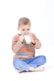 Drink milk Royalty Free Stock Photography