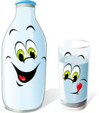 Drink milk illustration  Royalty Free Stock Image