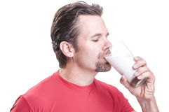 Drink milk Stock Images