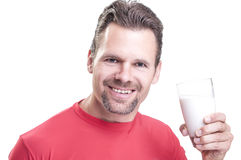 Drink milk Royalty Free Stock Image