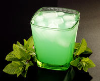 Drink with mint and ice Royalty Free Stock Photos
