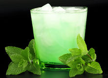Drink with mint and ice Stock Photo