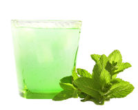 Drink with mint and ice Royalty Free Stock Photo