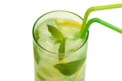 Drink with mint and lemon Royalty Free Stock Image