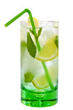 Drink with mint and lemon Stock Photo