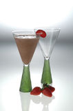 Drink with mint and strawberry Royalty Free Stock Images