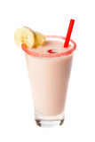 Drink-mix with banana. Over white stock photography