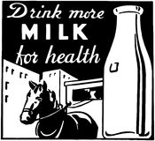 Drink More Milk Stock Photo