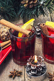 Drink mulled wine Royalty Free Stock Image