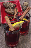 Drink mulled wine Stock Image
