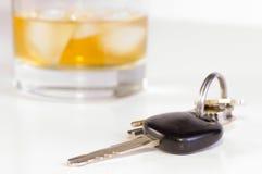 Drink niet en drijf royalty-vrije stock afbeeldingen