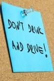 Drink niet en drijf Royalty-vrije Stock Foto's
