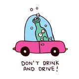Drink niet en drijf Stock Foto's