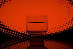 Drink in the night club. A glass of drink in the night club Royalty Free Stock Image
