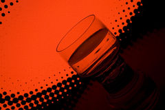 Drink in the night club. A glass of drink in the night club Royalty Free Stock Photography