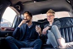 Drink och cigarr i limo Royaltyfria Foton