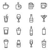 Drink och drycker Arkivfoto