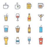 Drink och drycker Fotografering för Bildbyråer