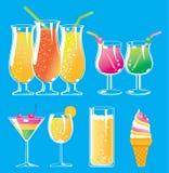 Drink och glass vektor illustrationer