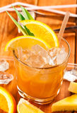 Drink with orange and pineapple Stock Images