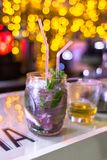 Refreshing drink at a party royalty free stock image