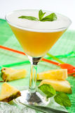 Drink with peach and pineapple Royalty Free Stock Photo