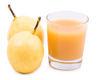 Drink pear and a ripe pear on Royalty Free Stock Photography
