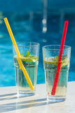 Drink by the pool Stock Photos