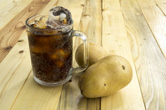 Drink potato cola cup glass caffeine liquid concept Royalty Free Stock Photography