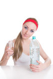 Drink pure water and be healthy Royalty Free Stock Photos