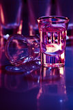 Drink in purple light Stock Images