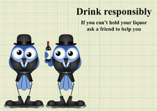 Drink responsibly message Stock Image