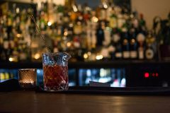 Drink in restaurante, bar clean and harmony. Waiting for be served Stock Images