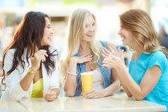 Drink after shopping Royalty Free Stock Photos