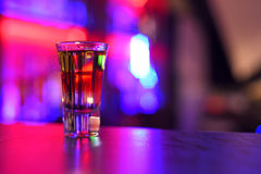 Drink shot. At the bar counter Royalty Free Stock Photos
