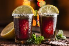 Drink in shot glasses Stock Photography