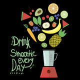 Drink smoothie every day Royalty Free Stock Photos