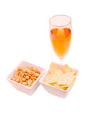 Drink and snacks Royalty Free Stock Photography