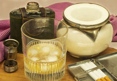 Drink and snuff Stock Photography