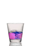 Drink splash. At the top of a glass Royalty Free Stock Photo