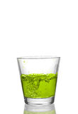 Drink splash. At the top of a glass Stock Photography